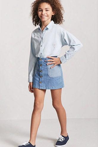 Girls Button-front Shirt (kids)
