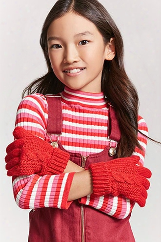 Girls Cable Knit Gloves (kids)