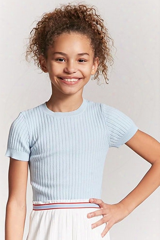 Girls Ribbed Knit Tee (kids)