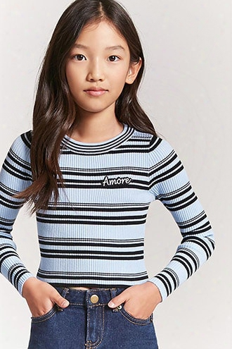 Girls Stripe Amore Sweater (kids)
