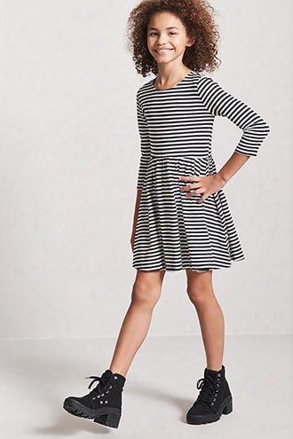 Girls Stripe Fit & Flare Dress (kids)