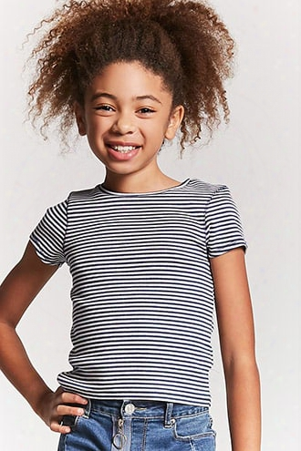 Girls Stripe Ribbed Knit Tee (kids)