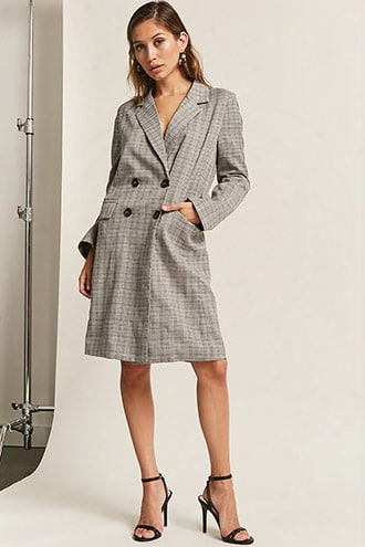 Glen Plaid Longline Jacket