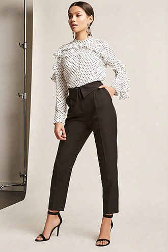 High-waist Foldover Trousers