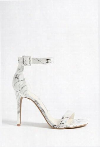 Marble Print Stiletto Heels
