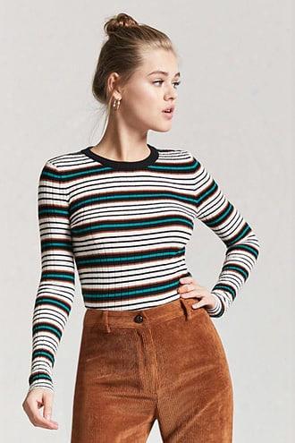 Ribbed Multistripe Sweater