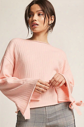 Ribbed Wide-sleeve Top