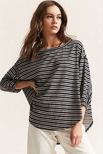 Stripe High-low Knit Top