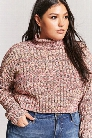 Plus Size Cropped Turtleneck Sweater