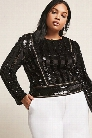 Plus Size Velvet & Sequin Top
