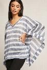 Stripe Open-Knit Top