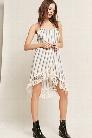 Z&L Europe Stripe Fringe Halter Dress