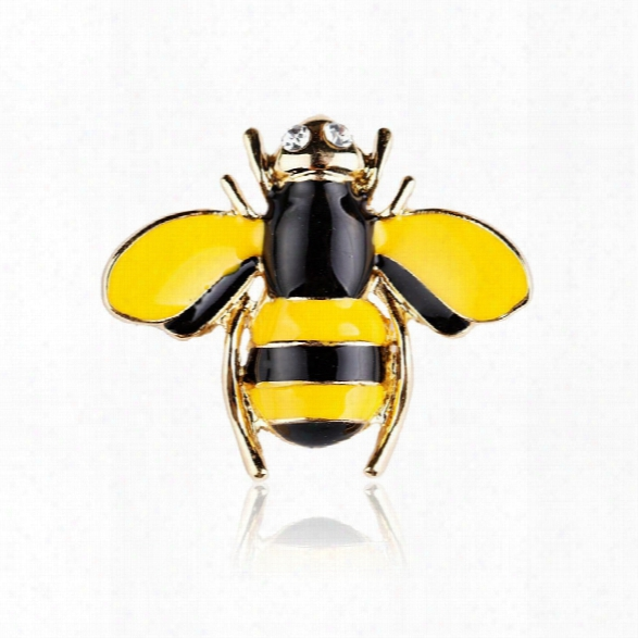 10 Designs New Honeybee With Crystal Design Brooches Lovely Bee Insect Pins For Women Jewelry New Year Gift