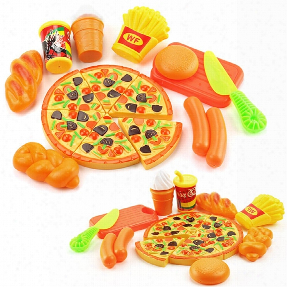 15pcs Children Play Set Toy Plastic Food Pizza Kitchen Baby Classic Kids Toys Pretend Playset Education
