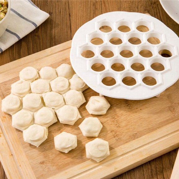 2 Pcs Kitchen Pastr Tools Diy Dumpling Mold Maker Dough Press Dumpling 19 Holes Dumplings Maker Mold
