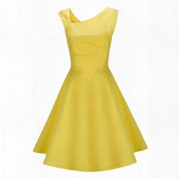 2018 New Summer Style Women Dress Sleeveless Vintage Dress Women Elegant Evening Party Dresses Sundress