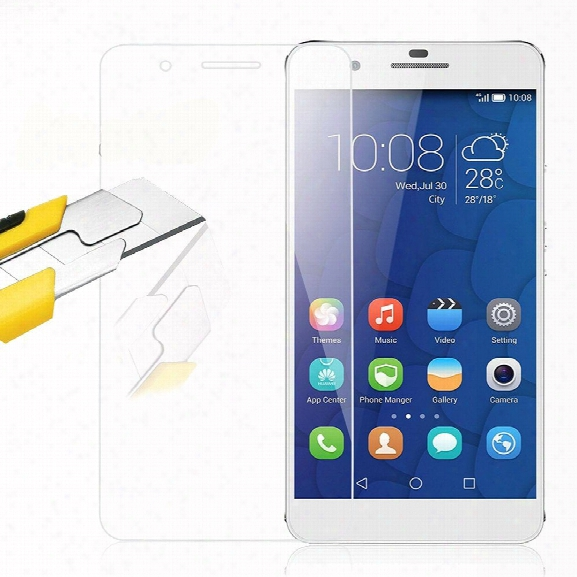 2pcs Screen Protector For Huawei Honor 6x/6 Plus High Sensitivity Hd Full Coverage High Clear Premium Etmpered Glass