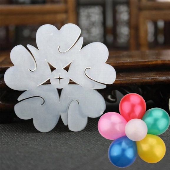 5pcs Multi Balloon Sseal Clip Globos Accessories Plum Flower Clip Home Decoration Wedding Birthday Balloon Clip