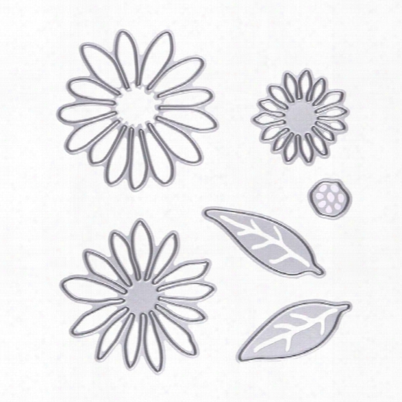 6pcs Flowers Metal Die Cutting Dies In Scrapbooking Die Cuts For Diy Scrapbooking Photo Album Decorative Embossing Folde