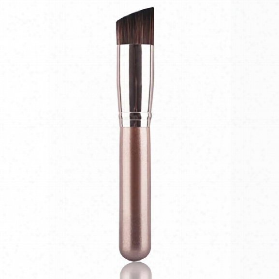 Angled Kabuki Professional Contour And Foundation Makeup Brush For Liquid Cream Mineral Powder Foundation Face Cos