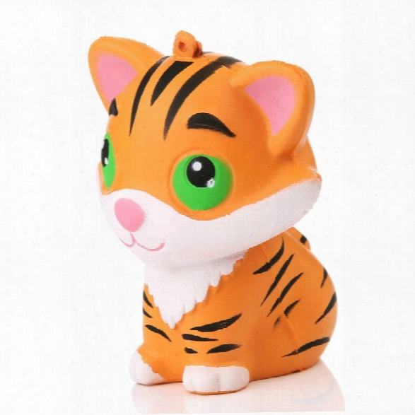 Animal Kawaii Squishy Tiger Doll Squeeze Bread Super Slow Rising Phone Straps Soft Scented Cake Toys Gift