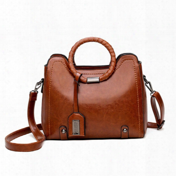 Bag Lady Slanted Shoulder Bag New Autumn/winter Single Shoulder Bag Simple Bag Of Retro Fashionable Oil Wax Leather Hand