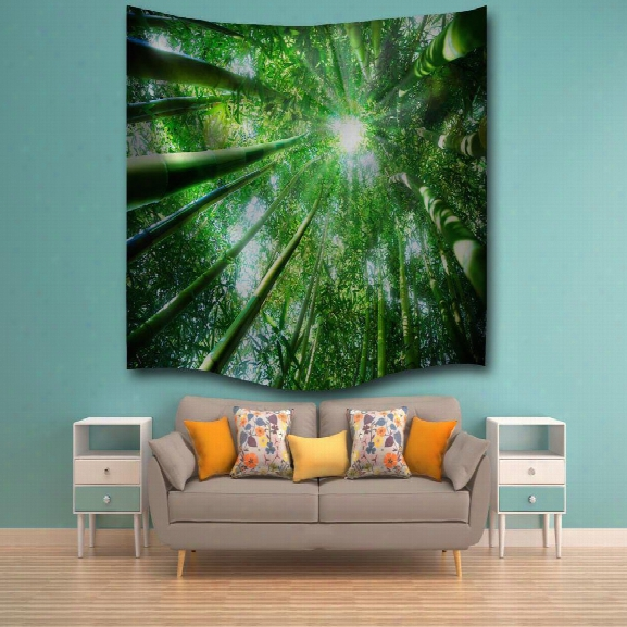 Bamboo Sunshine 3d Digital Printing Home Wall Hanging Nature Art Fabric Tapestry For Bedroom Living Room Decorations