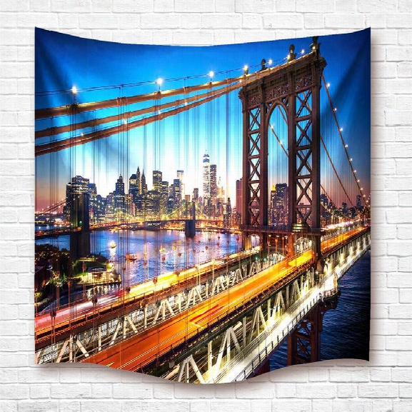 Brooklyn Bridge 3d Digital Printing Home Wall Hanging Nature Art Fabric Tapestry For Dorm Bedroom Living Decorations