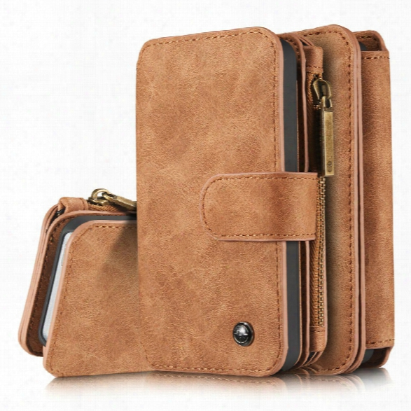 Caseme For Apple Iphone 5/5s/se Premium Pu Leather 2 In 1 Wallet Case With Kickstand 14 Card Holder And Id Slot