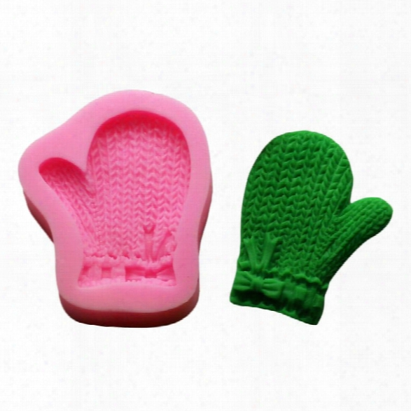 Christmas Gloves Shaped Silicone Mold Fondant Chocolate Mould Silicone Soap Molds For Cooking Gift Decorating Tools