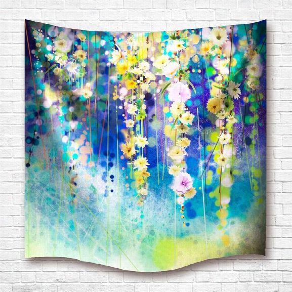 Colorful Flowers 3d Digital Printing Home Wall Hanging Nature Art Fabric Tapestry For Dorm Bedroom L Iving Room Decoratio