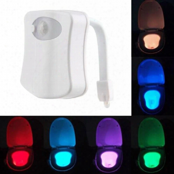 Colorful Motion Sensor Toilet Nightlight Home Toliet Bathroom Human Body Auto Motion Activated Sensor Seat Light Night