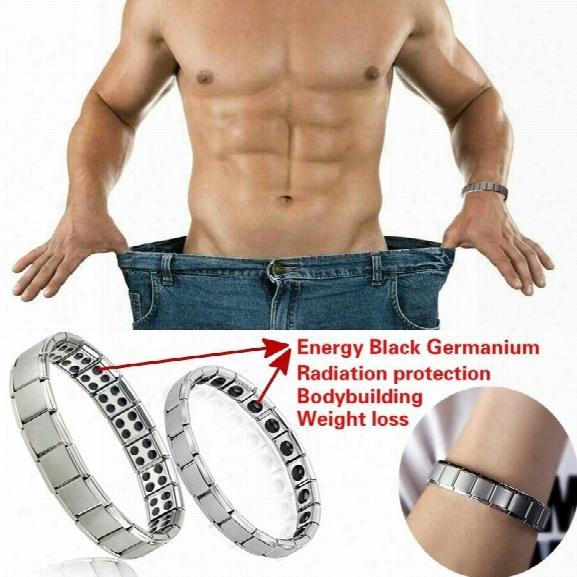 Couple Germanium Titanium Steel Elastic Bracelet Stretch Bracelet Bangle For Men Women Health Energy Ge Power Jewelry