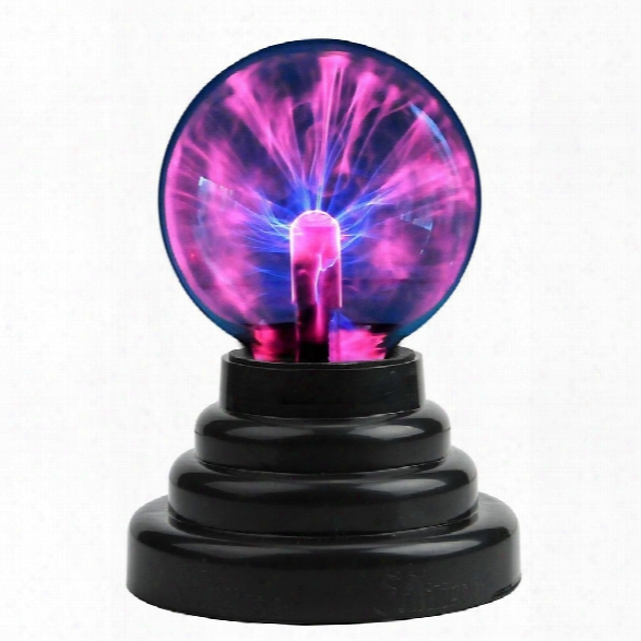 Cozycabin Plasma Ball Light, Thunder Lightning Plug-in Touch Sensitive - Usb Or Battery Powered For Parties, Decorations