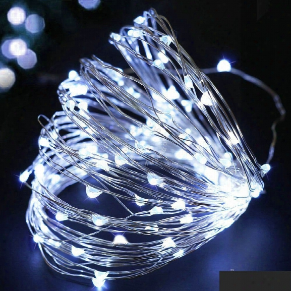 Dengzhan 10m 100led 3aa 4.5v Battery Powered Waterproof Decoration Led Copper Wire Lights String For Christmas Festival