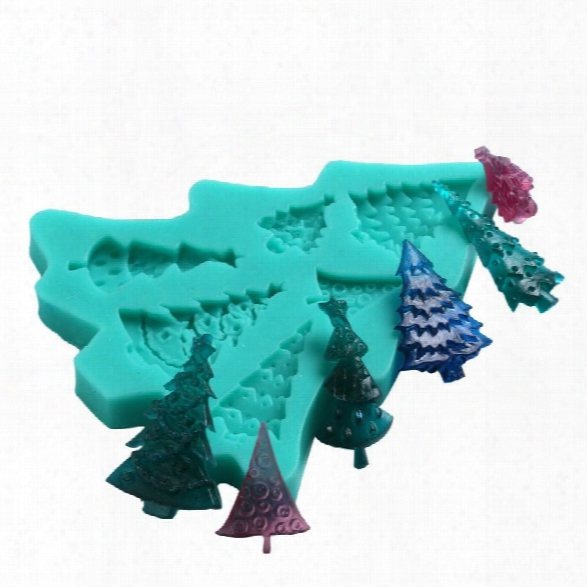 Facemile Christmas Tree 3d Silicone Mould Gumpaste Candy Chocolate Mold Party Cake Cupcake Decoration Fondant Tool