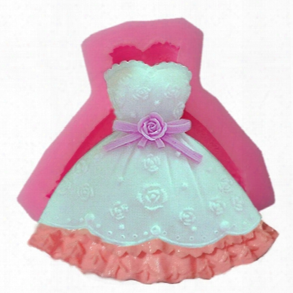 Facemile Wedding Dress Silicone Mold 3d Fondant Cake Decorating Tools Sugarcraft Cupcake Chocolate Baking Mould Soap Mol