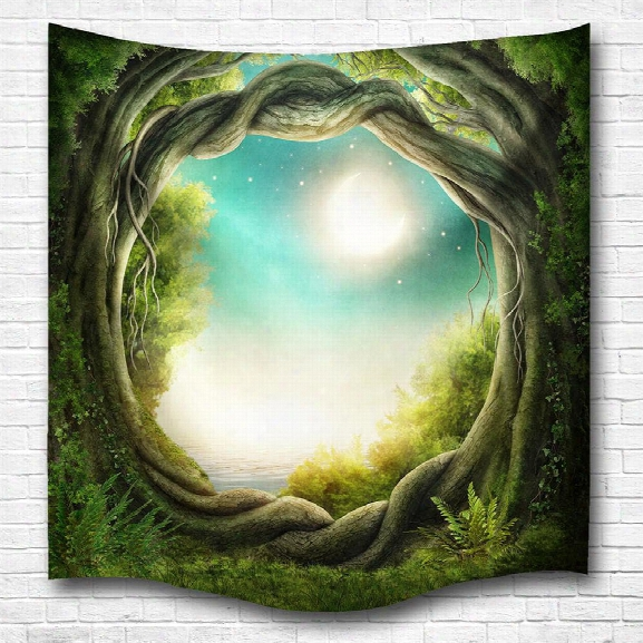Fantasy Forest 3d Digital Printing Home Wall Hanging Nature Art Fabric Tapestry For Bedroom Living Room Decorations