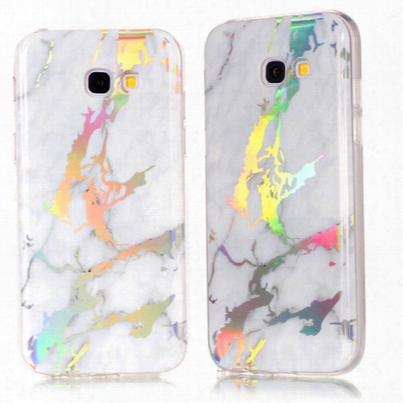Fashion Color Plated Marble Phone Case For Samsung Galaxy A5 A520 Case Cover Soft Tpu Full 360 Protection Case