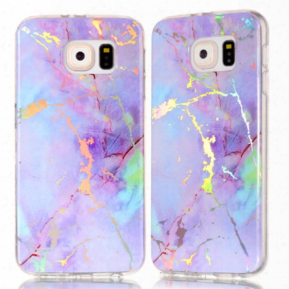 Fashion Color Plated Marble Phone Case For Samsung Galaxy S6 Case Cover Luxurious Soft Tpu Full 360 Protection Case