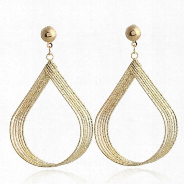 Fashion Jewellry Sliver Gold Drop Earrings Trendy Charm Long Tassel Dangle Earrings For Women Wedding Party Gift