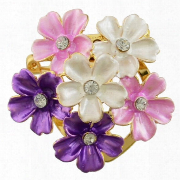 Fashion Jewelry Elegant Flower Scarf Buckle Brooch Classic Charm Clips Lapel Pins Trendy Brooches For Women Jewelry