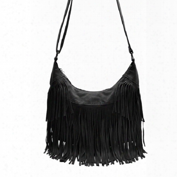Faux Suede Tassel Handbag Women Sling Shoulder Bags Ladies Crossbody Messenger Bag Handbag Shopping Office Beach Bag