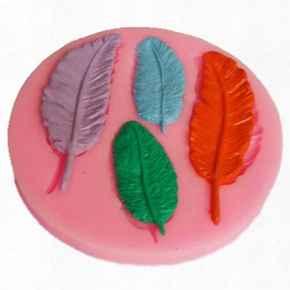 Feather Shape Collection Gift Mold Silicone Fondant Soap Chocolate Decoration Mould Candy Jelly 3d Fondant Lace Mold