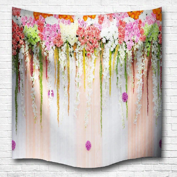 Flower Color Wall 3d Digital Printing Home Wall Hanging Nature Art Fabric Tapestry For Bedroom Living Room Decorations