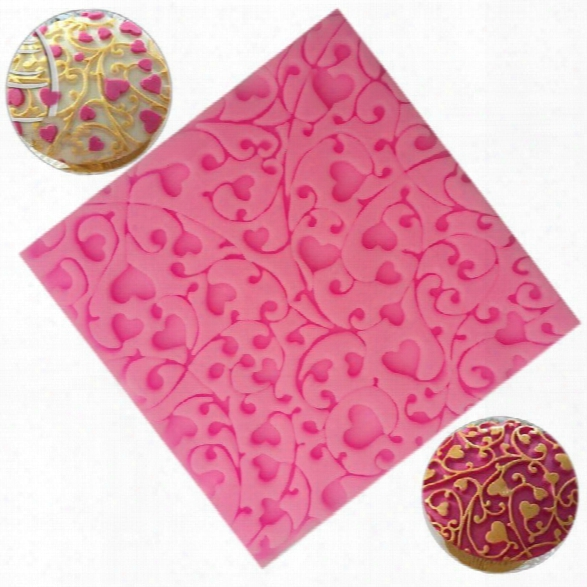Flower Heart Lace Gift Chocolate Silicone Mould Pastry Tool Bakeware Jelly Sugar Fondant Silicone Candy Gift Decoration
