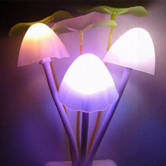 Godrays G051201 - M01 Smart Light Control Mushroom Night Lamp Auto Change Color Us Plug Ac 110 - 220 V