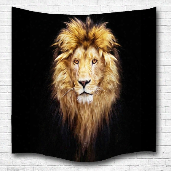 Golden Lion King 3d Digital Printing Home Wall Hanging Nature Art Fabric Tapestry For Bedroom Living Room Decorations