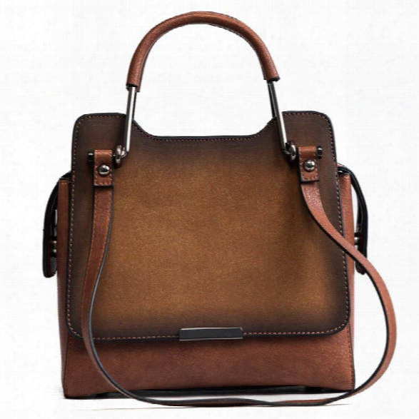 Handbag Lady 2018 New Four Seasons With A Single Shoulder Slanted Shoulder Bag Fashion Retro Smoky Air Bags