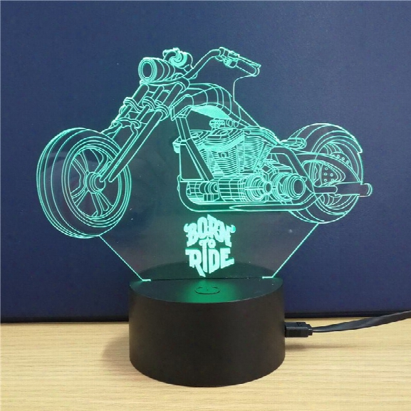 Harley Davidson Motorcycle Gift Advertising Promotion Led Touches The Color-changing 3d Lamp Usb Creative Nightlight